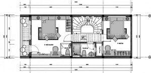 Bản vẽ nhà phố 3 tầng 5x12 2