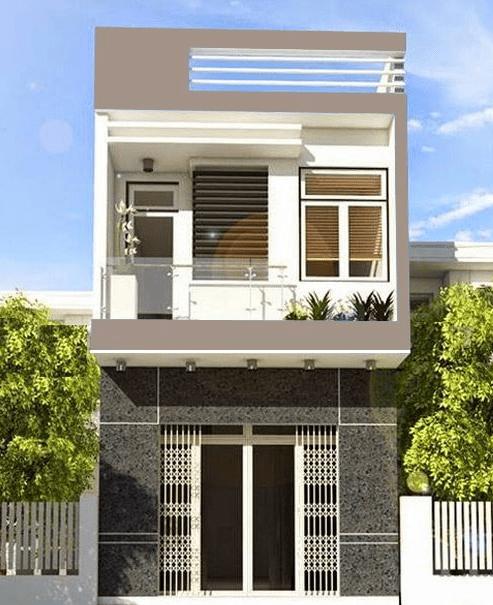 bản vẽ thiết kế nhà 2 tầng 5x15m có 3 phòng ngủ