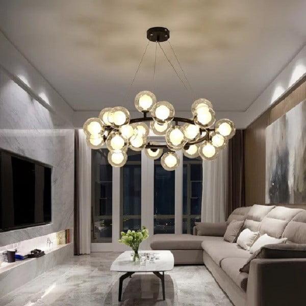 cách xây nhà đẹp bộ đèn chùm ấn tượng