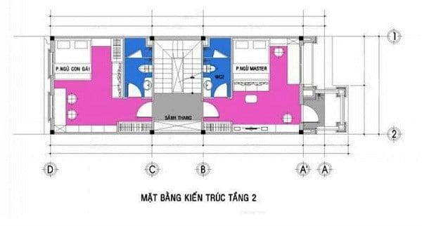 chi phí xây nhà 3 tầng 60m2