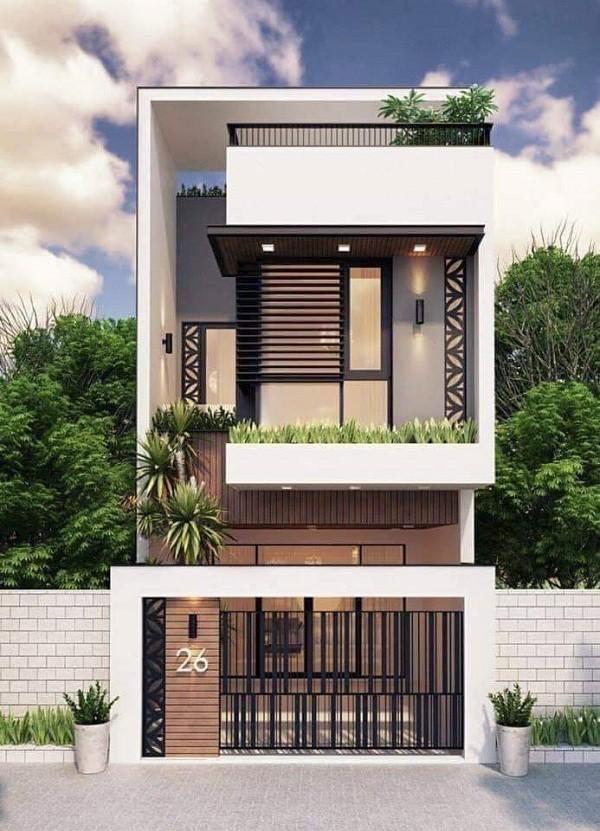 mẫu nhà 2 tầng đẹp tiết kiệm chi phí