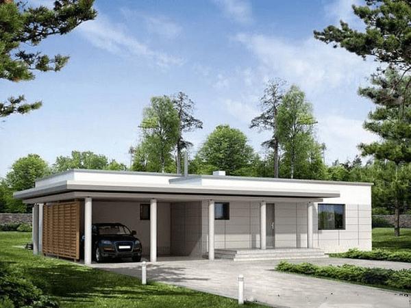 Mẫu nhà đẹp nông thôn mới cấp 4 mái bằng hiện đại