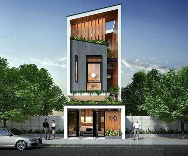 thiết kế nhà 60m2 3 tầng