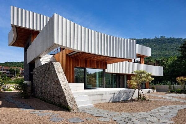 thiết kế nhà kiểu hàn quốc bọc bê tông