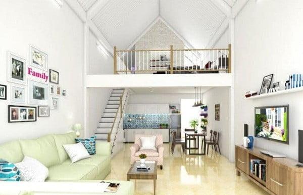 Thiết kế nhà nhỏ 30m2 có gác lửng