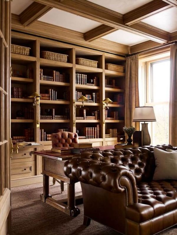 Thiết kế phòng làm việc tại nhà phong cáchtân cổ điển