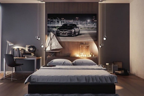 Trang trí phòng ngủ cho nam