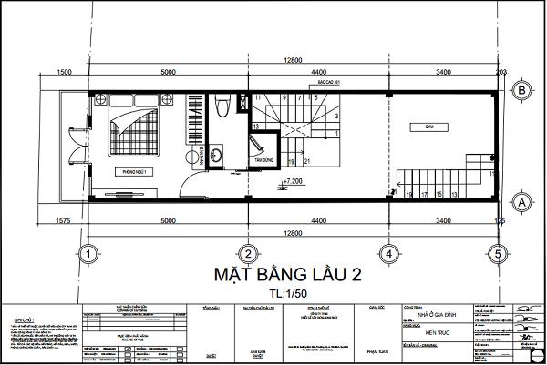 Nhà 3,6x12,8m, 1 trệt 3 lầu 3