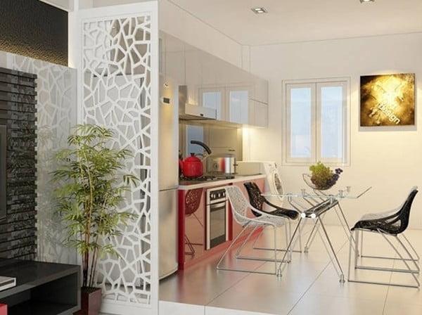 Thiết kế vách ngăn phòng khách chung cư 2
