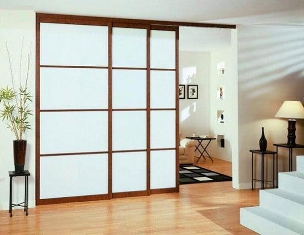 Vách ngăn tường phòng khách bằng nhôm kính 1