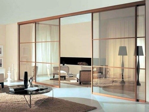 Vách ngăn tường phòng khách bằng nhôm kính 3