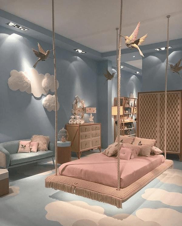 xây dựng nhà đẹp giường xích đu độc đáo