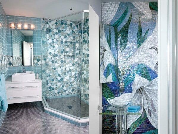 xây dựng nhà đẹp phòng tắm lấp lánh